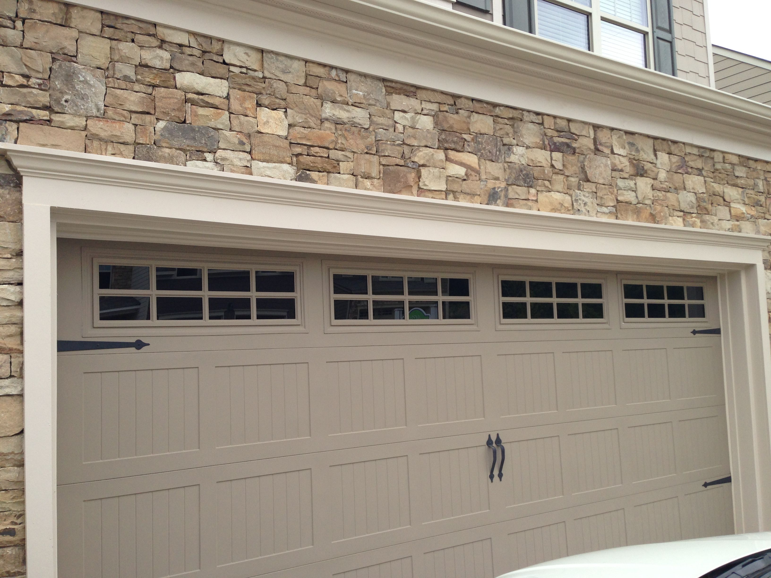The Garage Door Is The Prefect Color To Go With The Brick Alpharetta Ga Garage Doors Garage Door Colors Garage Door Opener Installation
