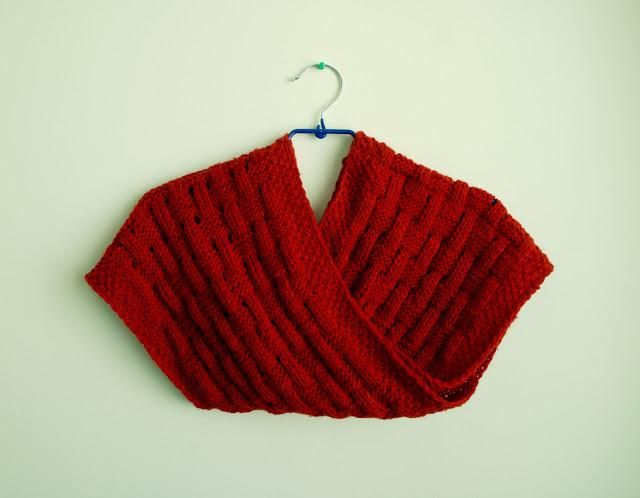 Basketweave Knitted Infinity Scarf | Knitting | Pinterest