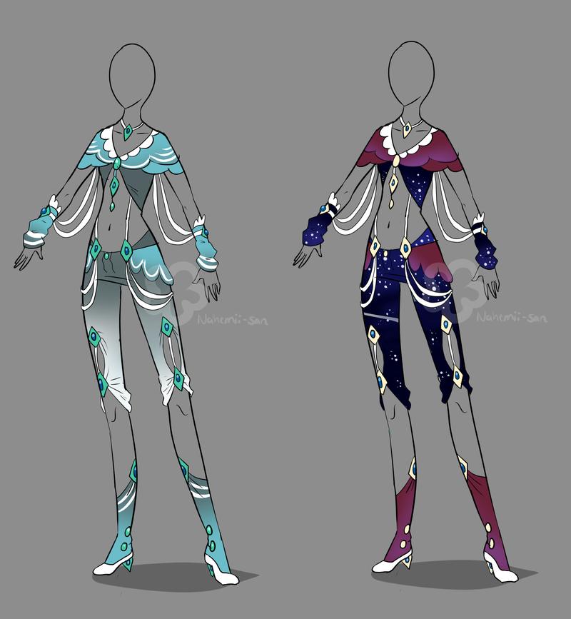 Fantasy Design Adopt Sold By Nahemii San On Deviantart Clothes Design Fantasy Clothing Fantasy Dress