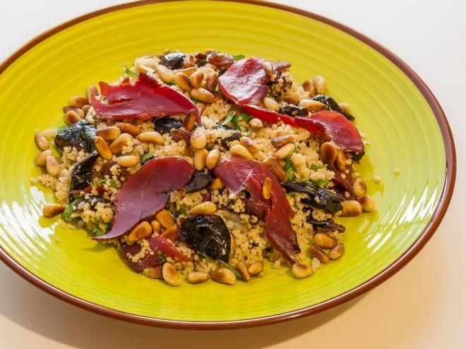 Recette Entrée : Taboulé au canard et fruits secs par Kilometre-0