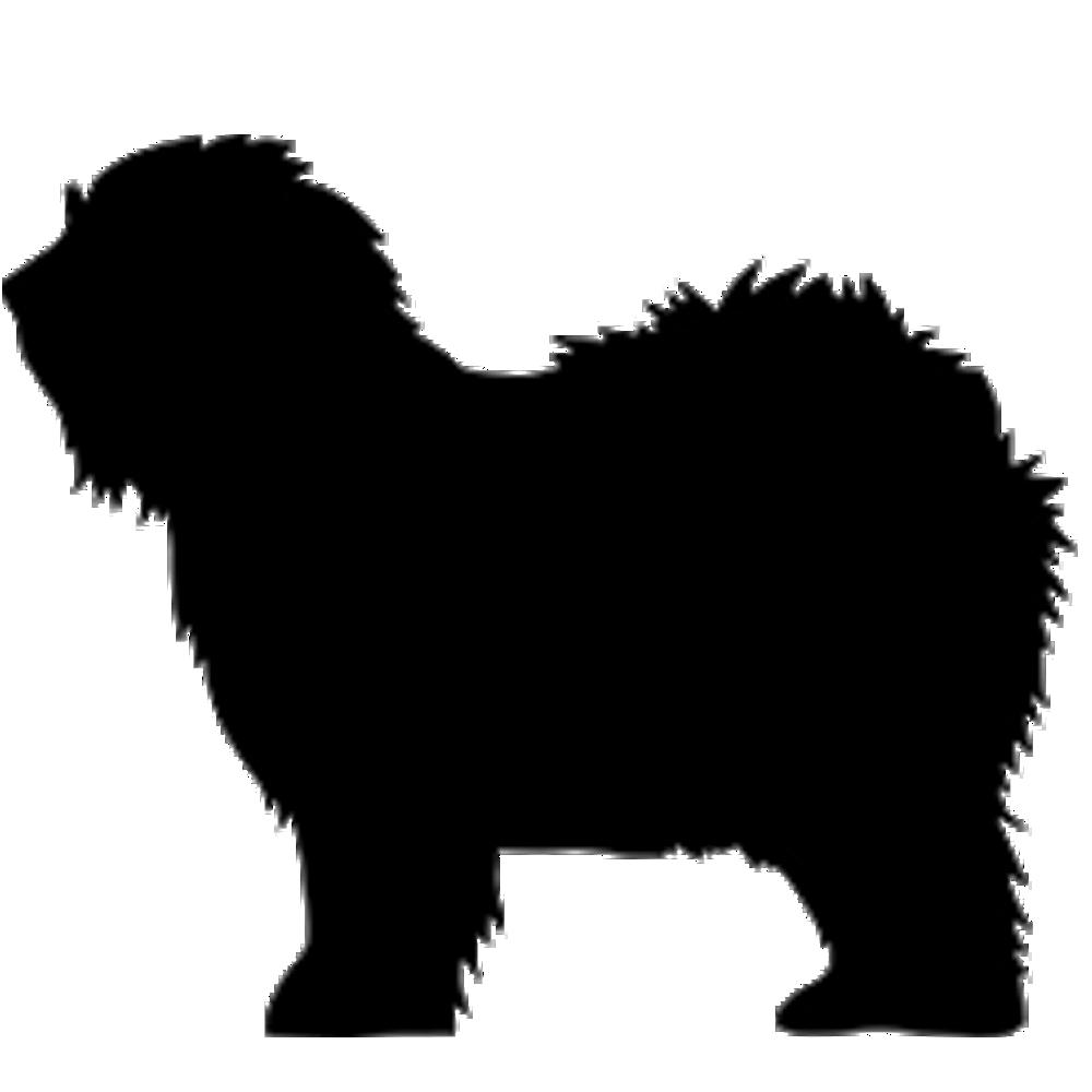7AL-Old English Sheepdog Silhouette imprinted on a Peerless | Old english  sheepdog, English sheepdog, Sheepdog