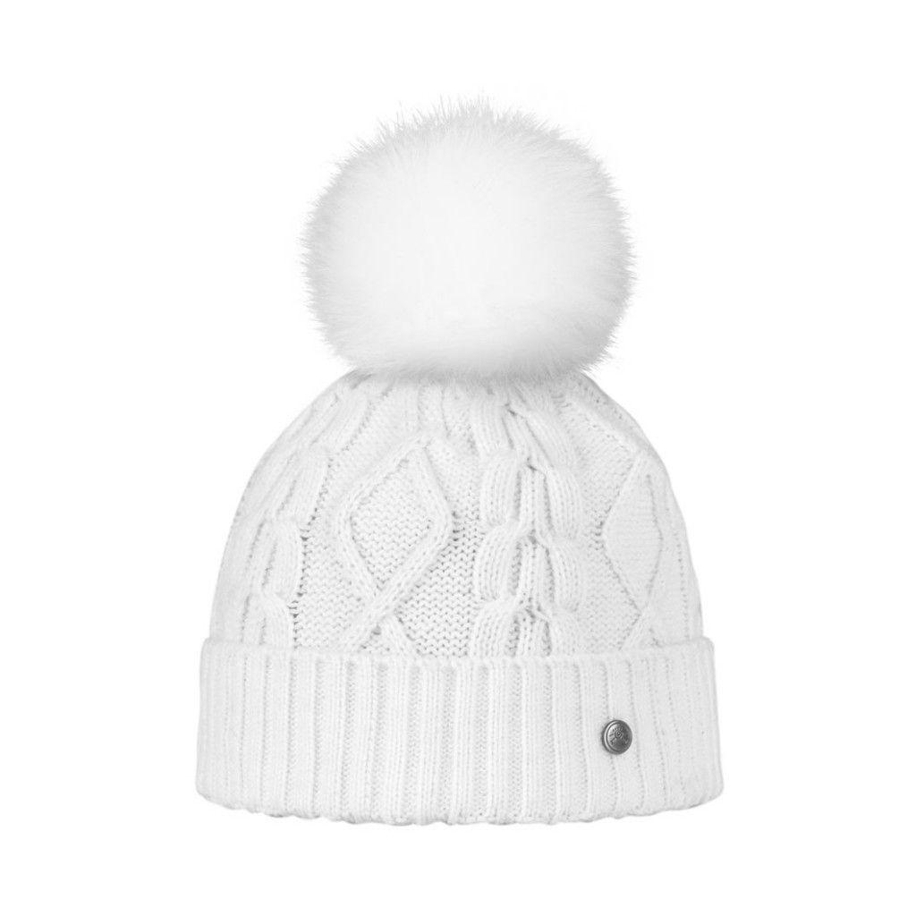 meilleure sélection de Royaume-Uni disponibilité braderie Bonnet Blanc avec Pompon Fourrure Renard | Pretty little ...