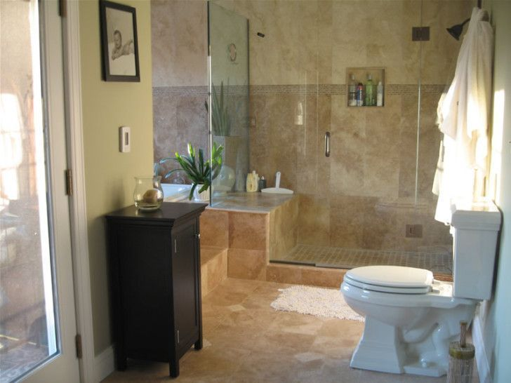 Bathroom Designs, The Lovely Dark Brown Single Cabinet Bathroom