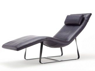 Poltrone Chaise Longue Design.Chaise Longue In Pelle Rolf Benz 360 Soggiorno Lounge