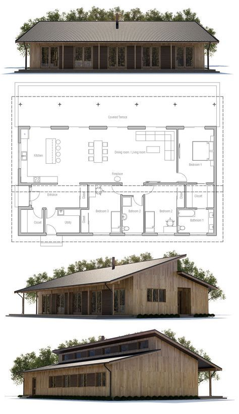 very much like W's house, the staggered roof heights with ...
