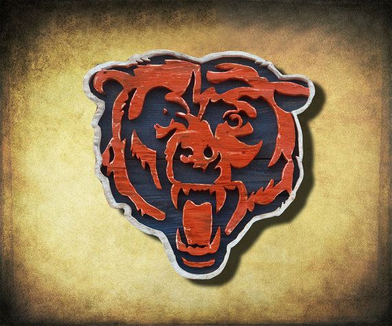 Chicago Bears Handmade Distressed Wood By ChrisKnightCreations, $180.00