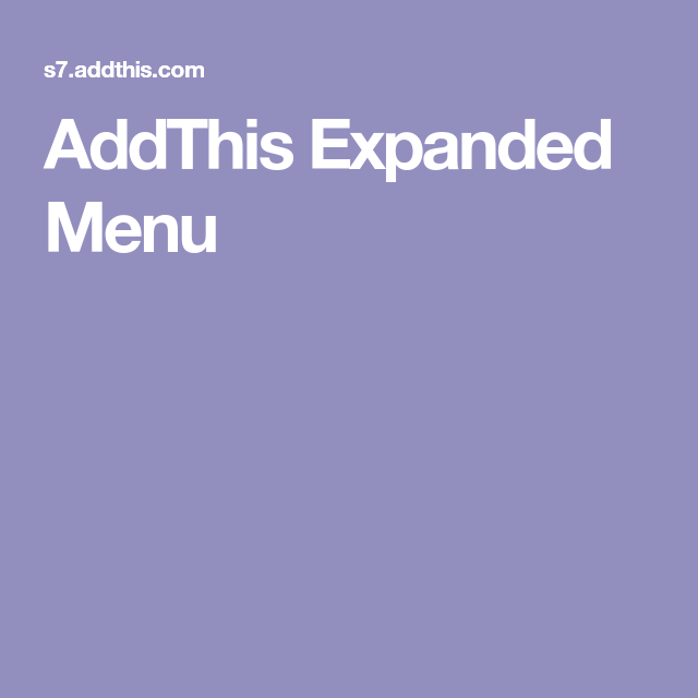 AddThis Expanded Menu – Typical Miracle