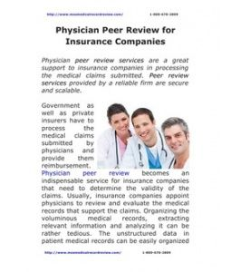 Physician Peer Review For Insurance Companies Medical Medical