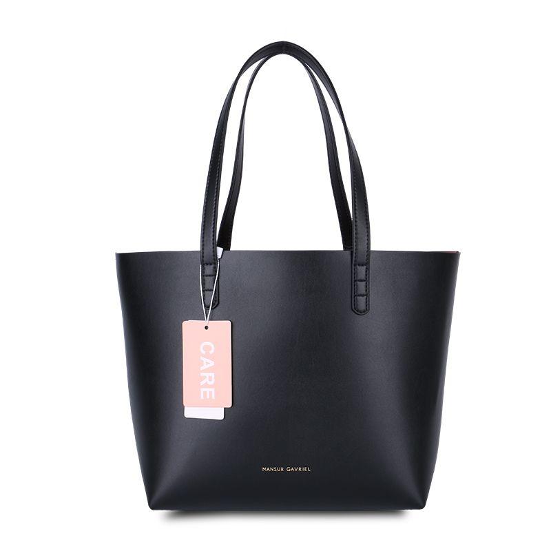 100 Full Grain Leather Mansur Gavriel Geunine Large Tote Bag Women Famous Designer Brand