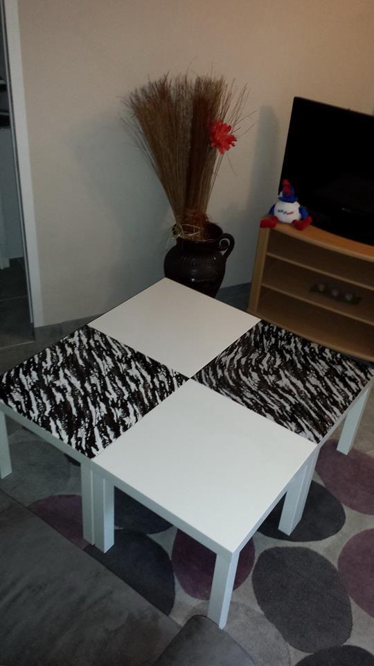 Table Basse Relookee Avec Un Film Hydrosoluble Table Basse Table Basse Relevable Ikea Table Basse Verre