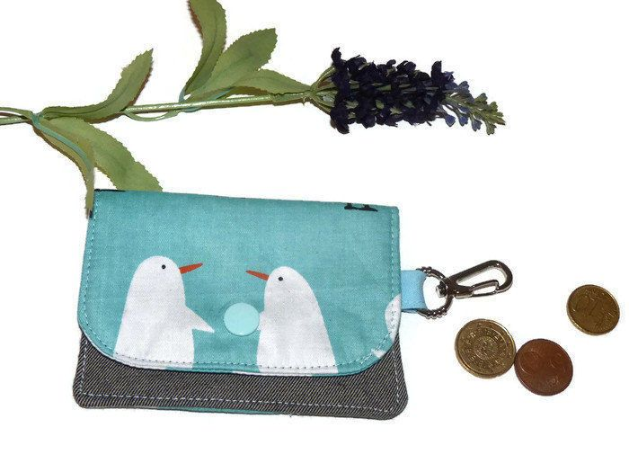 Earbud Holder, Earbud Case, Earphone Case, Headphone Holder, Earbud Pouch,  Mini Wallet, Card Holder, Headphone Pouch Penguin by DriSewing on Etsy