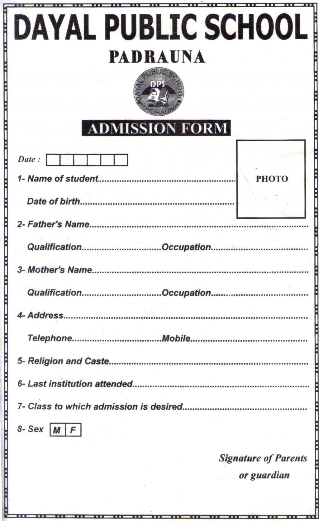 Admission Form School Termination Employee Letter Doc13772247 Dps School Mughals School Admission Form School Admissions Admissions [ 1671 x 1024 Pixel ]