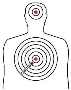 picture relating to Printable Silhouette Target referred to as Pistol Goals Printable for 8.5X11 Click on upon the impression of