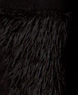 Alfani Petite Eyelash-Hem Open-Front Cardigan, Only at Macy's - Black P/XS