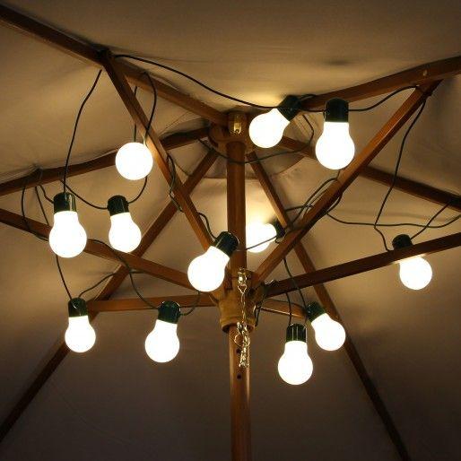 Solar festoon fairy lights 12 warm white leds 6m