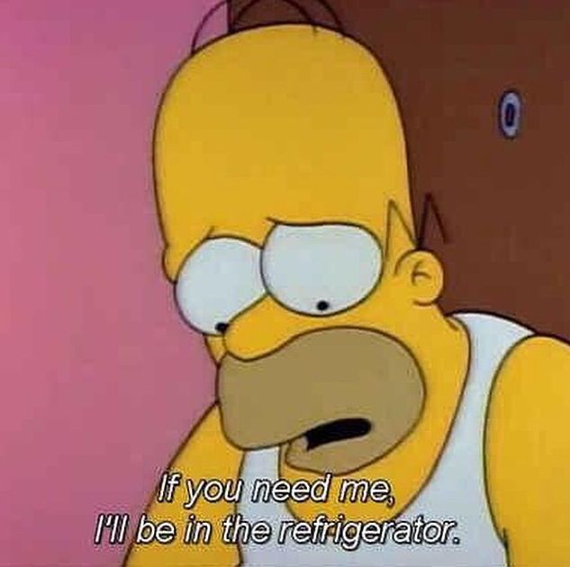 If You Need Me I Ll Be In The Refrigerator Homer Simpson The Simpsons Simpsons Quotes Simpsons Funny Homer Simpson