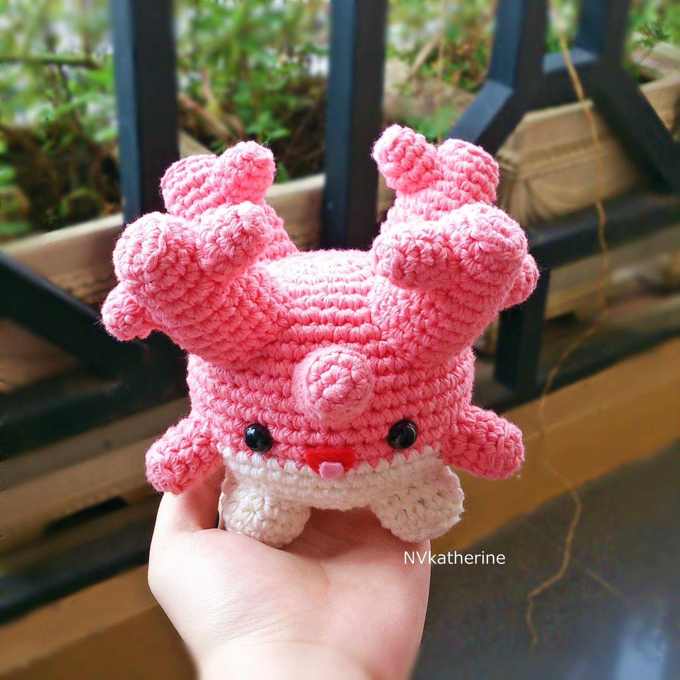Corsola [FREE SHIPPING] Crochet Amigurumi Pokemon Chibi Fanart Plush…