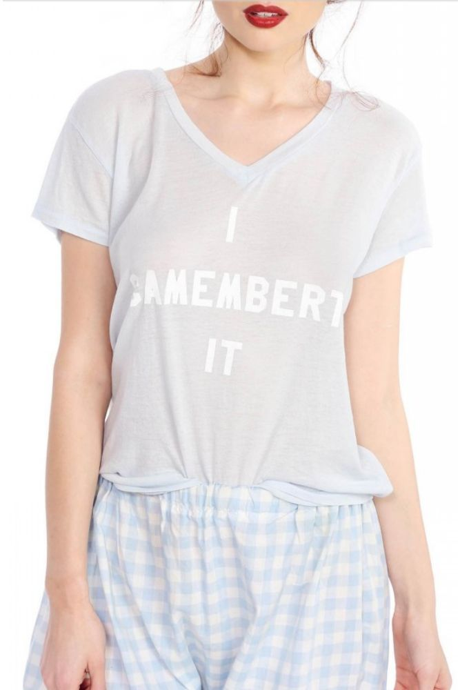 Wildfox Couture I Camembert It Easy V-Neck Tee