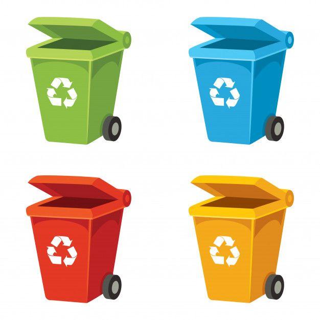 Illustration Vectorielle De Bac De Recyclage