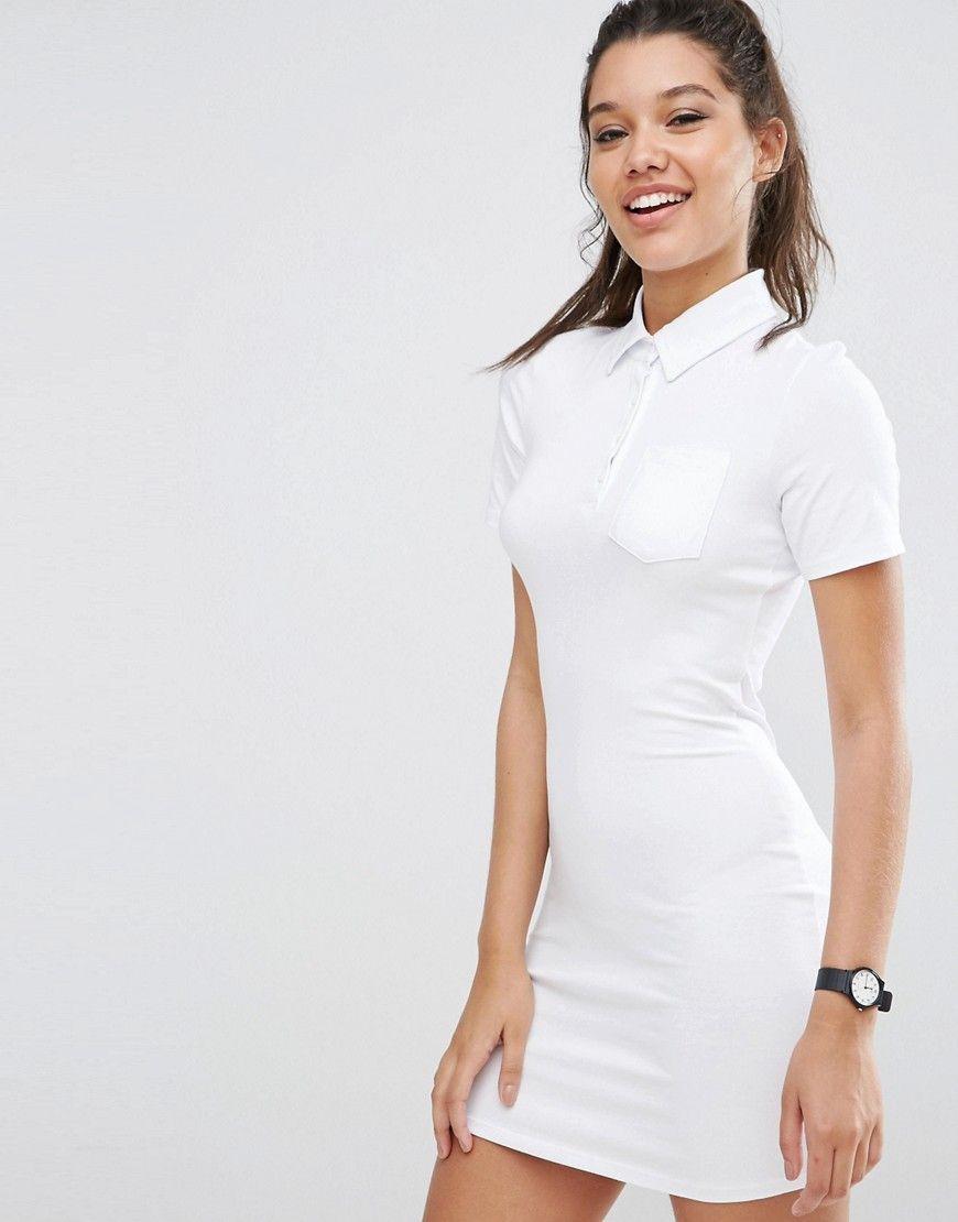 b904e3310 Image 1 of ASOS Polo Shirt Dress | Polo | Polo dress outfit, Polo ...