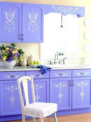 ideas sencillas y baratas para decorar los muebles y armarios de cocina