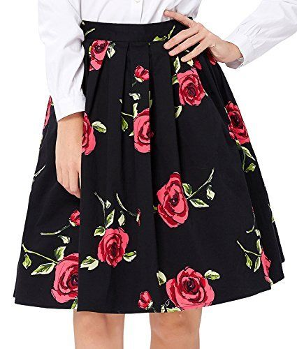 1e5784f36 The magnificent 1950s inspired circle skirts pattern range from simple  polka dots to beautiful flowers print. With a banded high waist and  gathered, volu