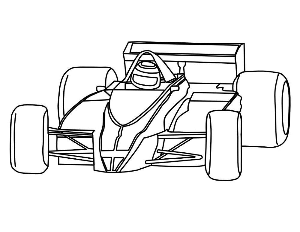 Download Formula 1 Car Printable Halaman Mewarnai Gambar Mobil Keren