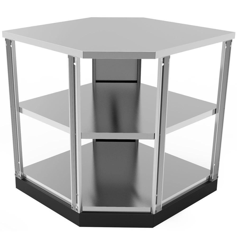 Stainless Steel Classic 90 Degree Corner 34x36x34 In Outdoor Kitchen Shelf Cabinet Outdoor Kitchen Outdoor Kitchen Bars Outdoor Kitchen Cabinets