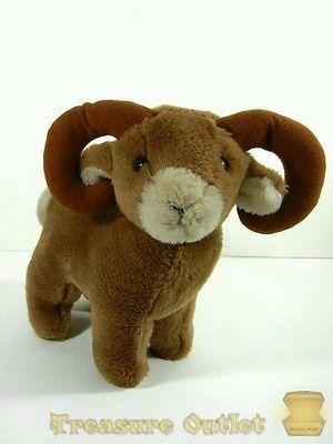 Dakin Vintage 1986 Ram Bighorn Sheep Goat Stuffed Plush Animal