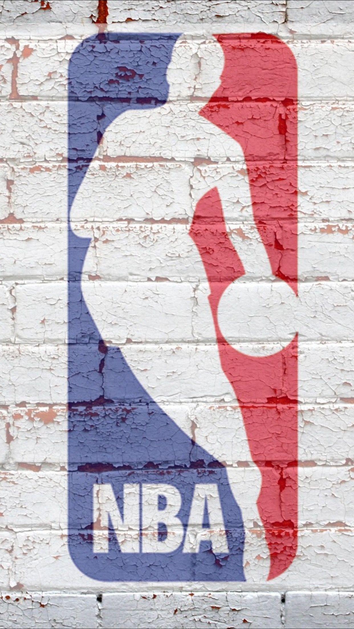 Nba Logo 3wallpapers Iphone Parallax Nba Logo Nba Basketball Art Basketball Iphone Wallpaper