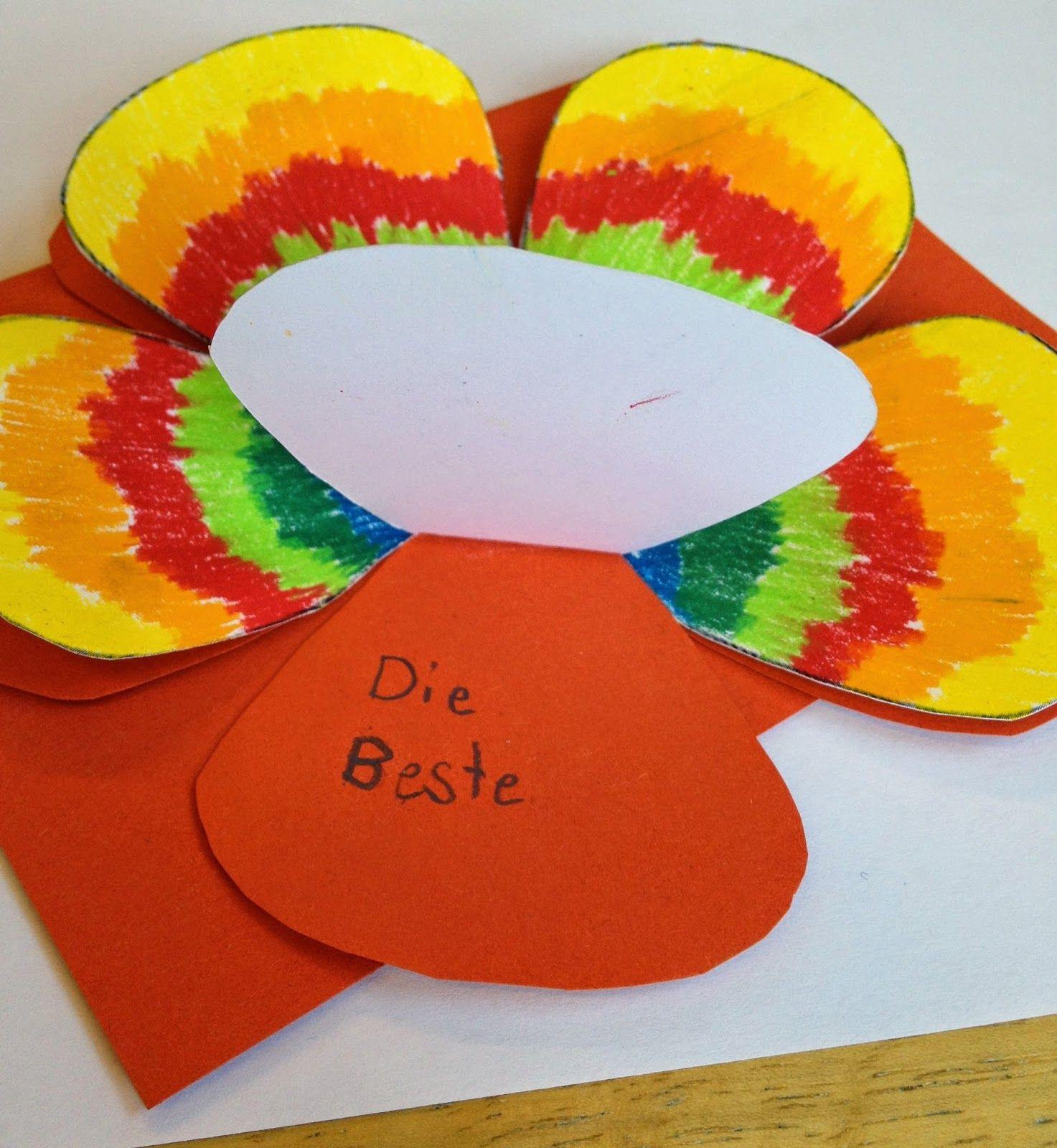 Klassenkunst geschenk zum muttertag karte basteln for Muttertagsgeschenk grundschule