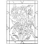 Rose Faux Stained Glass Template