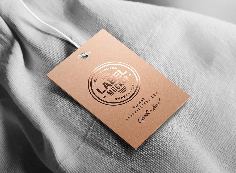 Clothing Tag Label Free Mockup Clothing Mockup Free Mockup Clothing Labels Design