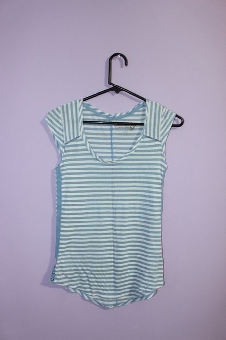ade4d9a248 Blue and White Striped Shirt Selena Gomez