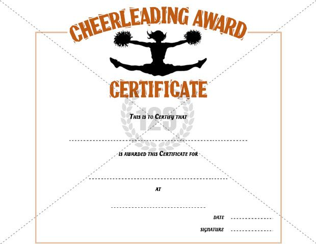 Cheerleading award certificate template free download certificate templates projects to try for Cheerleader award certificates