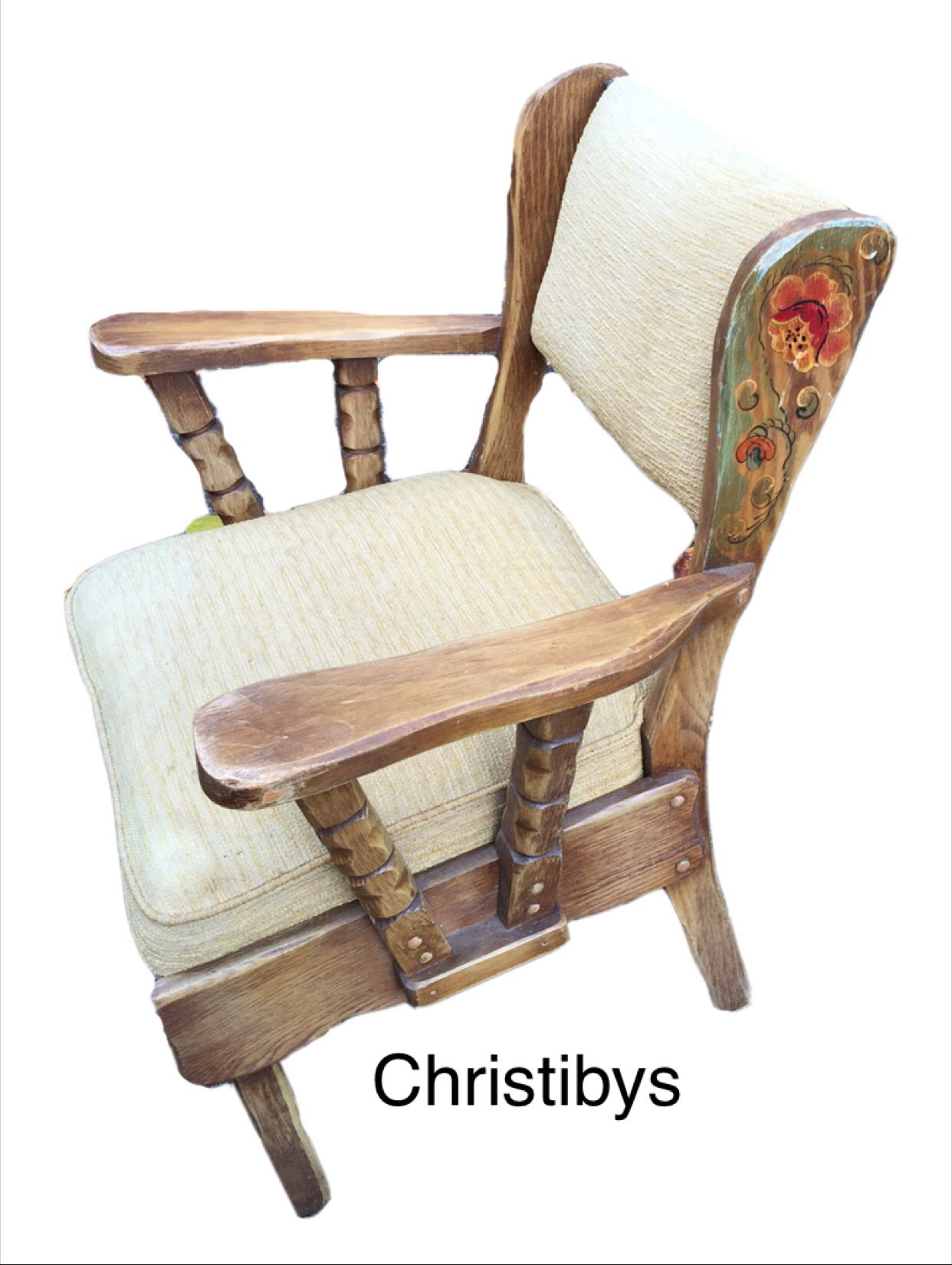 Coronado Signed Upholstered Arm Chair Monterey Style. All Original.  Available, Christibys