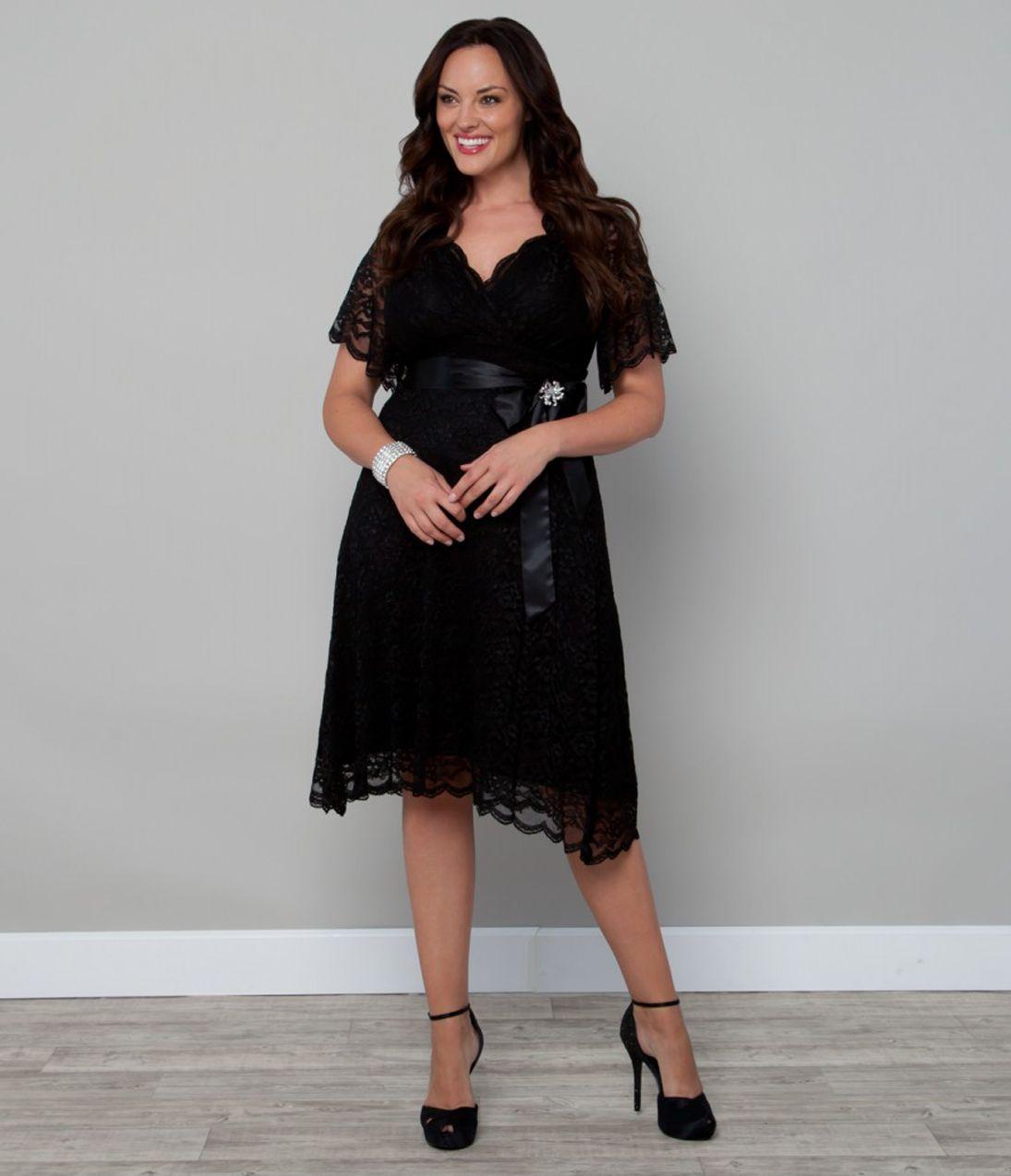 Plus Size Black Amp Purple Lace Retro Glam Cocktail Dress