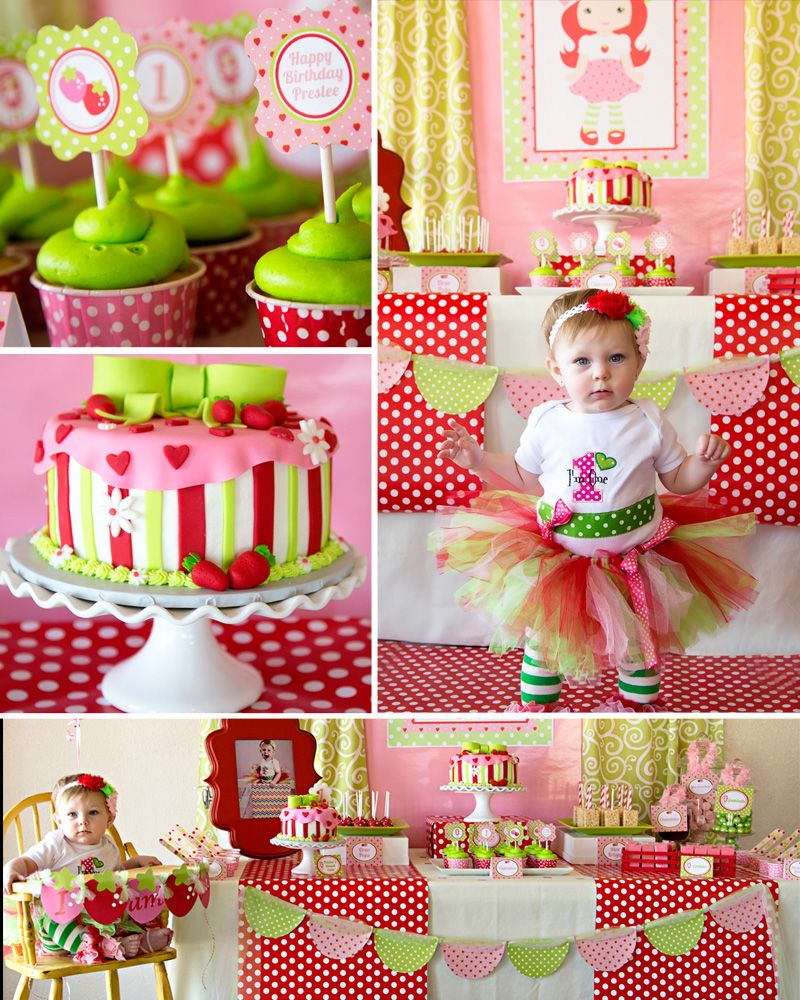 Strawberry shortcake birthday party (With images