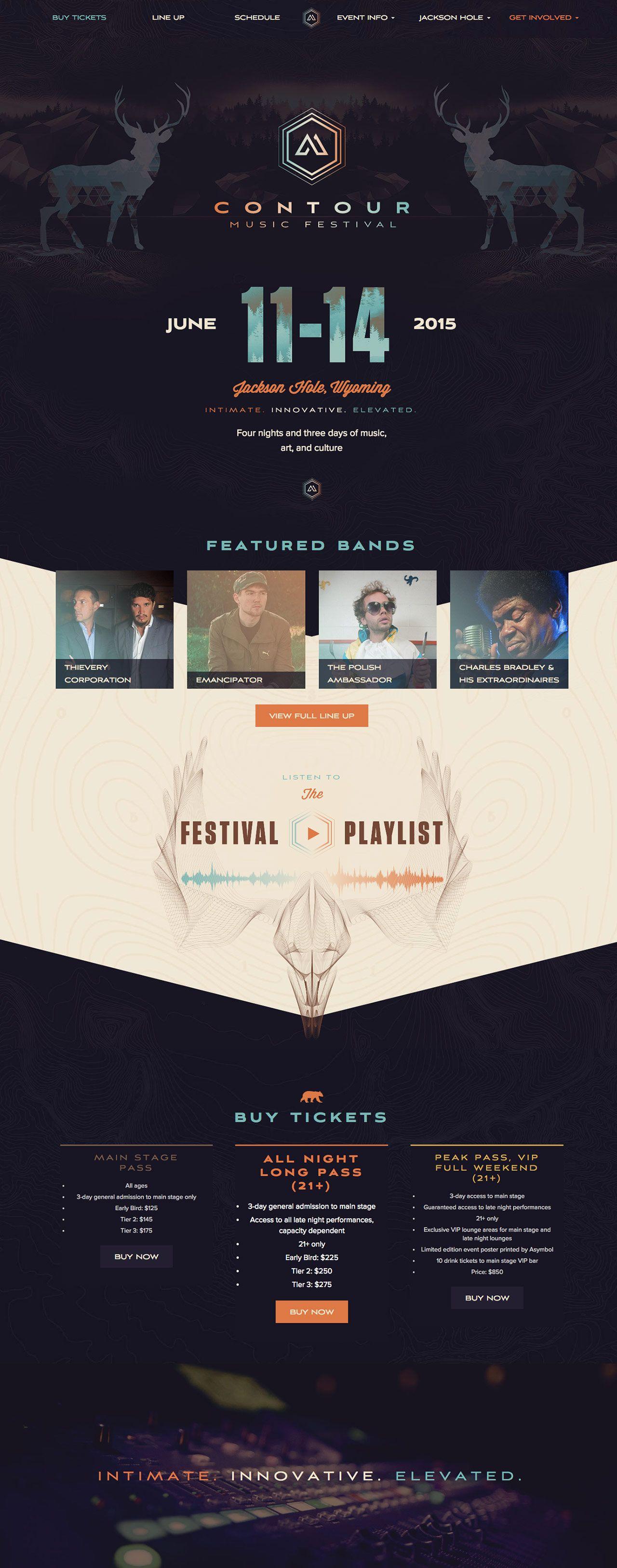 Contour Music Festival Tmbr Jackson Wyoming Beautiful Website Design Music Web Web Design
