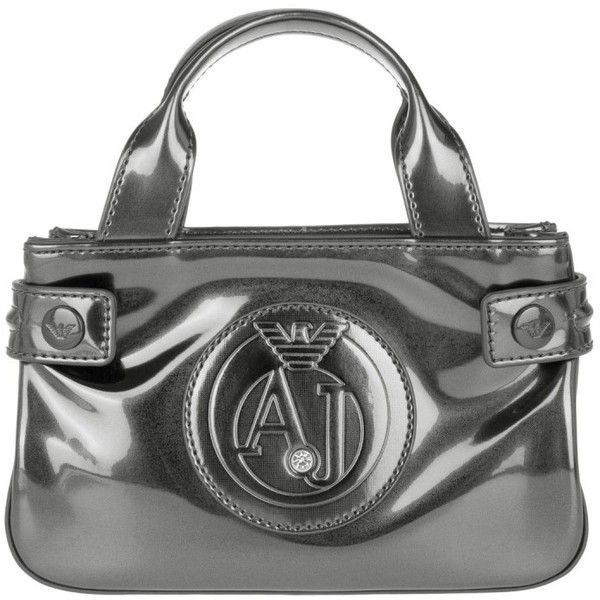d920c39424 Armani Jeans Mini Crossbody PVC Gun Metal in silver, Shoulder Bags ($160) ❤