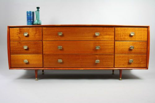 MID Century Teak Sideboard Buffet Drawers Alrob Retro Vintage Danish Dresser in Melbourne, VIC