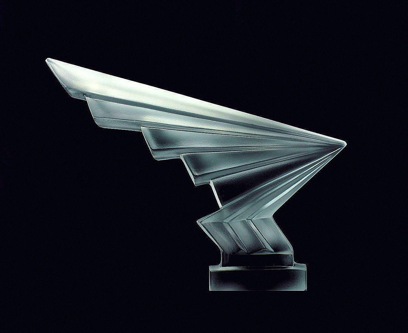 Rare hood ornaments - Rare Bohemian Art Deco Glass Flash Car Mascot Hood Ornament Sculpture Ebay