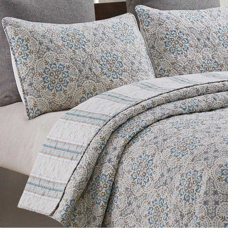 Duque Floral Medallion Reversible Quilt Set Traditional Bedding Sets Bedding Sets Quilt Sets