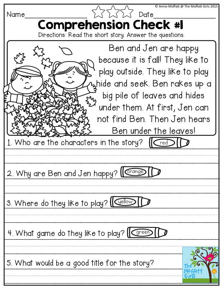 Worksheets English Compherishion reading comprehension check for preschool kindergarten english simple checks early readers