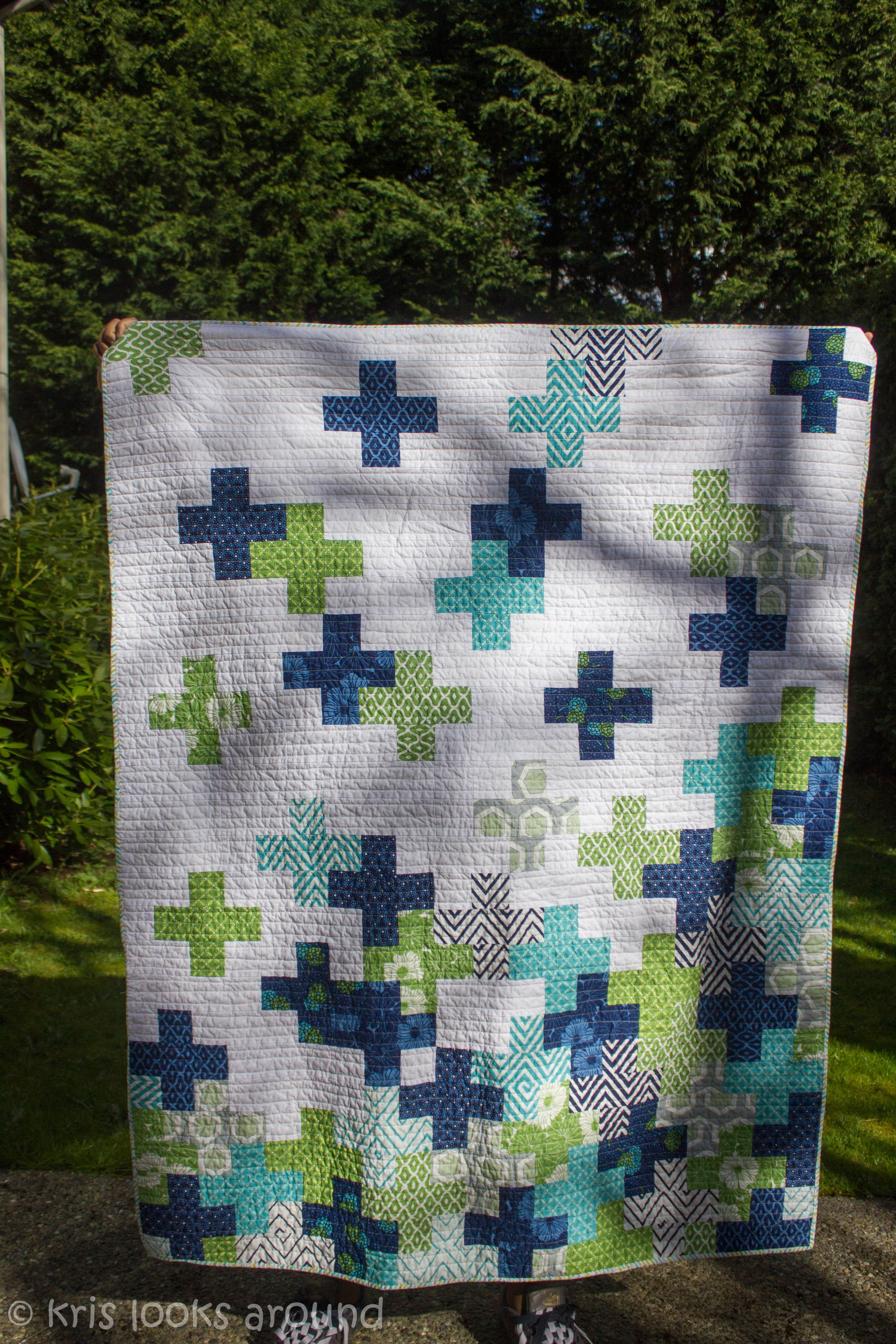 The Plus Quilt | Birthdays, Patchwork and Cross quilt : plus quilts - Adamdwight.com