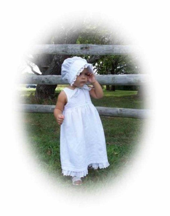 Still my all-time favorite for summer.  WHITE EYELET sundress and bonnet sizes 18 months 2T by BabyDerby,