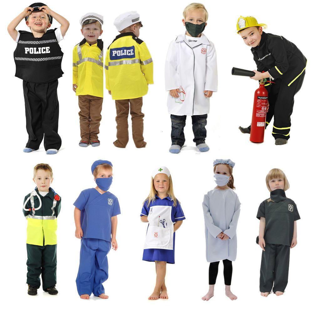 details about children s kids boys girls emergency services fancy dress up costume outfit my. Black Bedroom Furniture Sets. Home Design Ideas