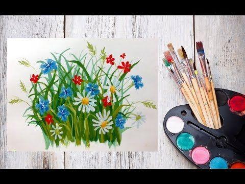 Видео полевые цветы