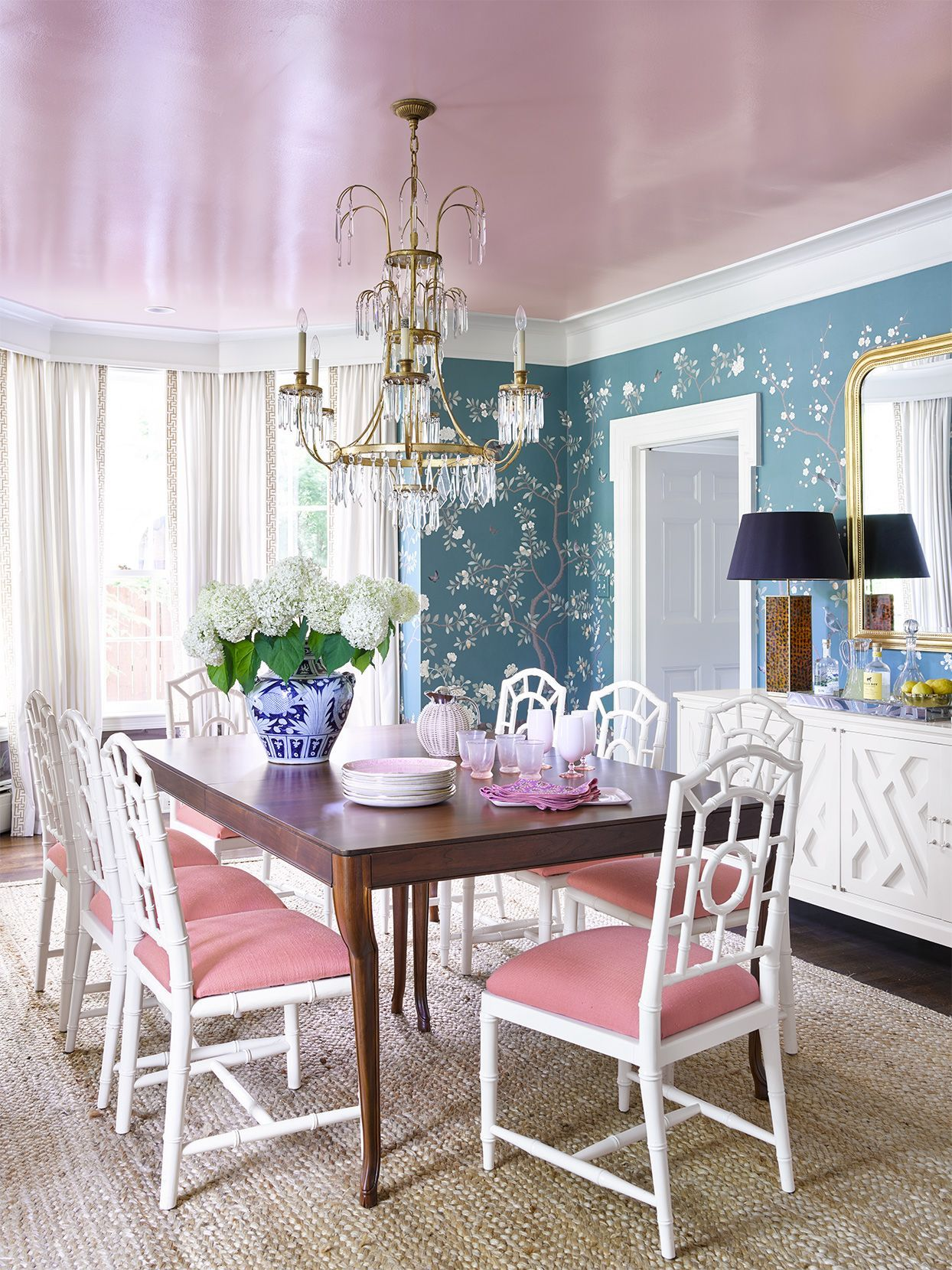 23 Brilliant Blue Color Schemes For Every Design Style In 2020 Home Wooden Table And Chairs Blue Color Schemes