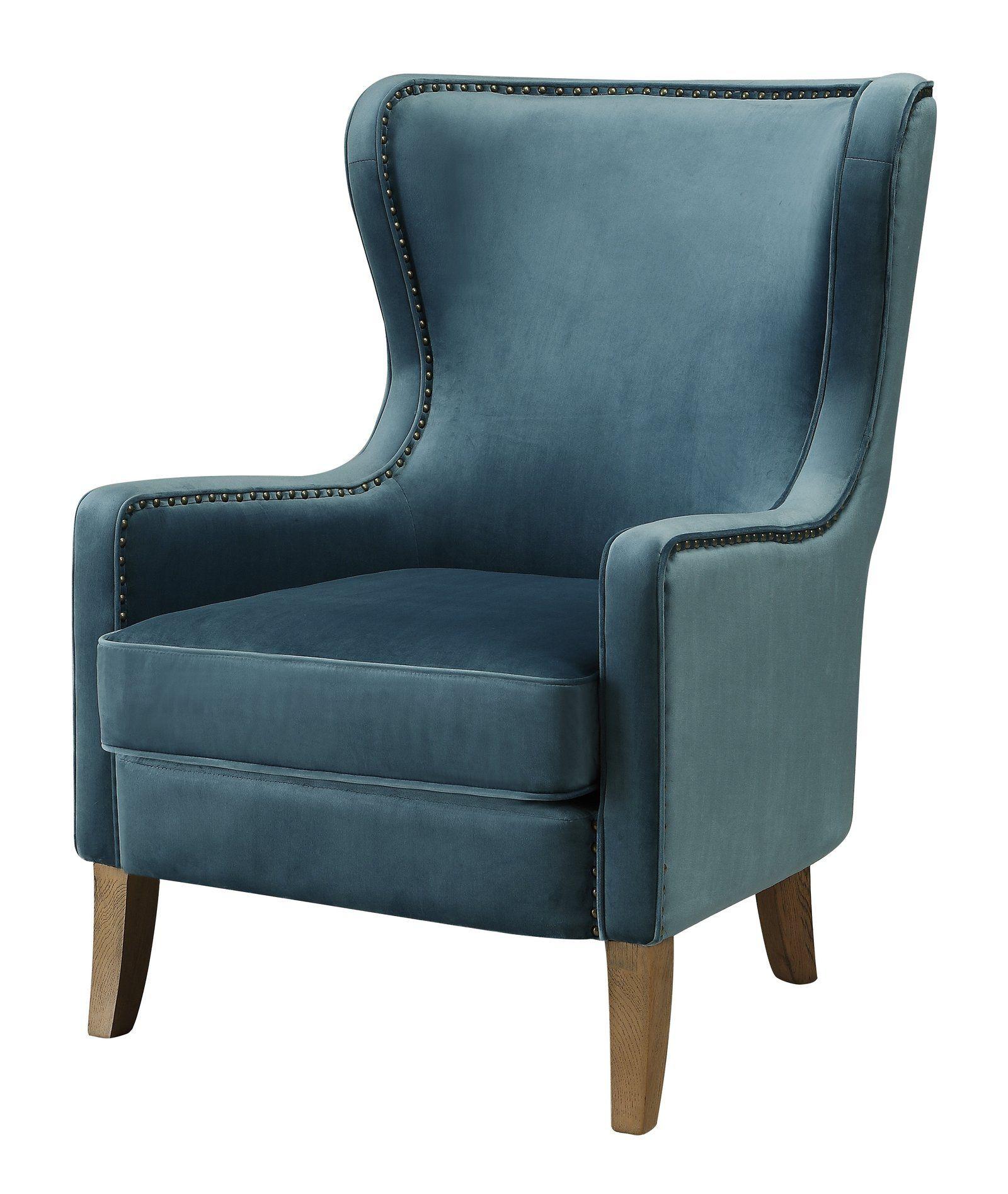 Orson Armchair Wingback chair, Velvet wingback chair